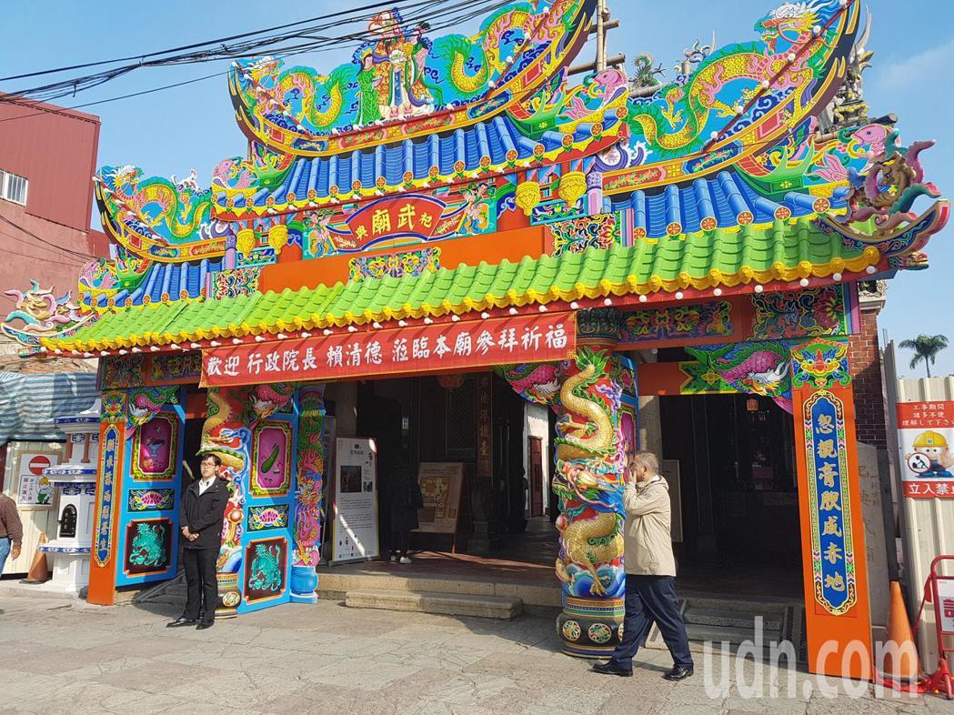 行政院長賴清德本周才剛到台南祀典武廟參拜。記者修瑞瑩/攝影