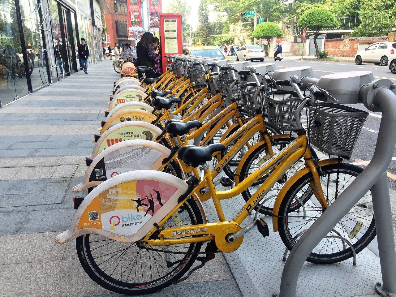 屏東Pbike營運3年多,騎乘人次至上月底止已達163萬5729人次。 記者翁禎...