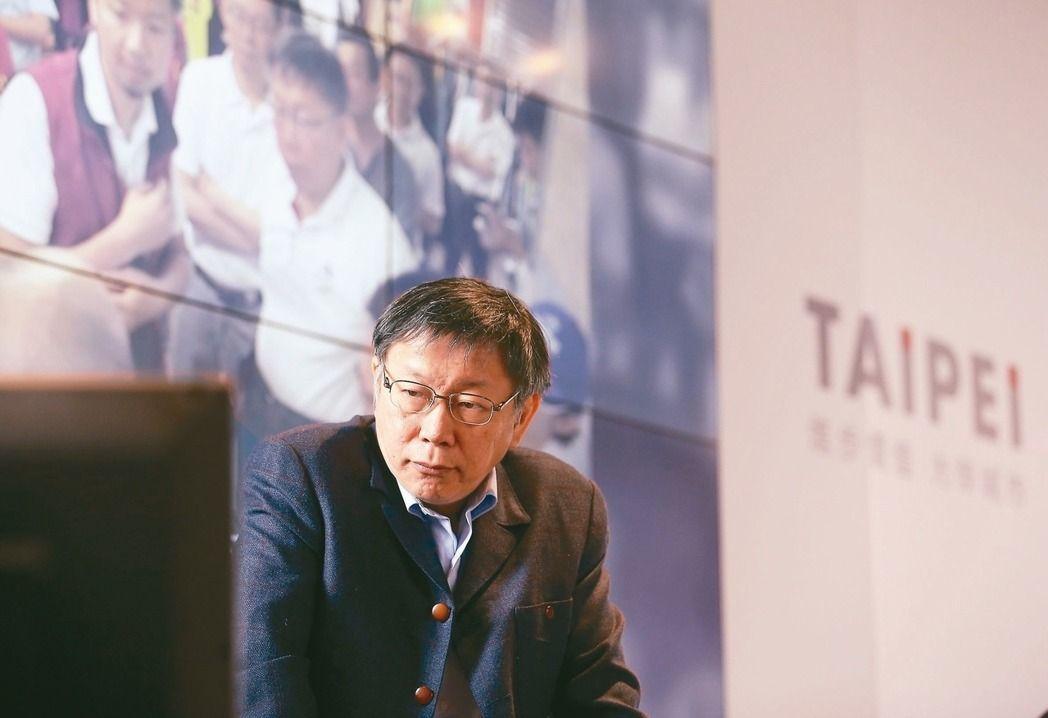 台北市長柯文哲建議中央政府增高圍牆、鐵欄杆。 記者余承翰/攝影