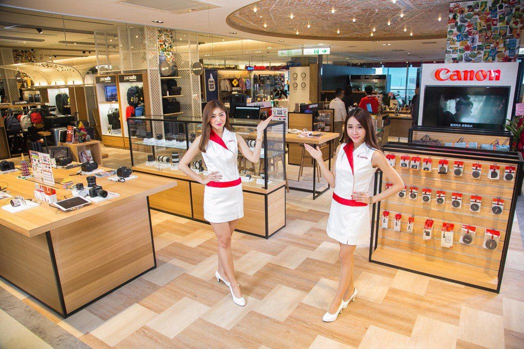 台灣首間Canon Image Square位於新光三越信義A8館3樓法雅客內,...