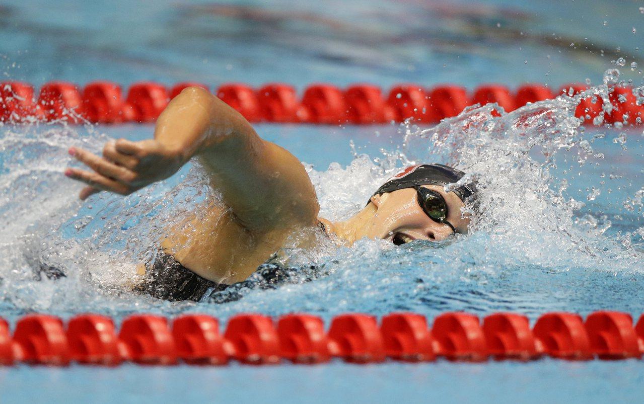 AP年度最佳女運動員,游泳小天后萊德琪當選。 美聯社