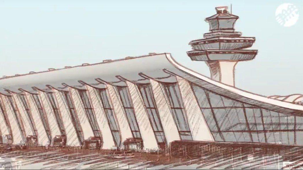 在網路上以「杜勒斯機場」為關鍵字找到的圖片,其實可以用P圖軟體「原圖重描」畫出第...