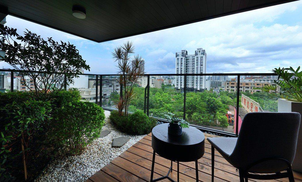 3米深景觀陽台。 圖片提供/京城建設