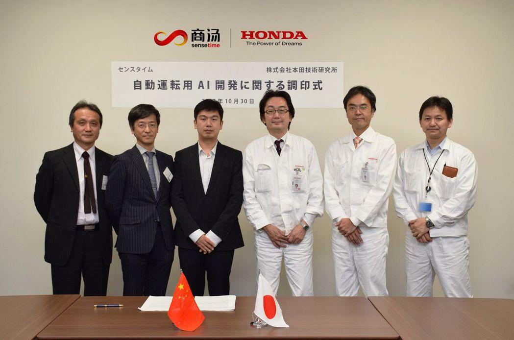 Honda與中國商湯科技合作AI技術。 摘自Honda