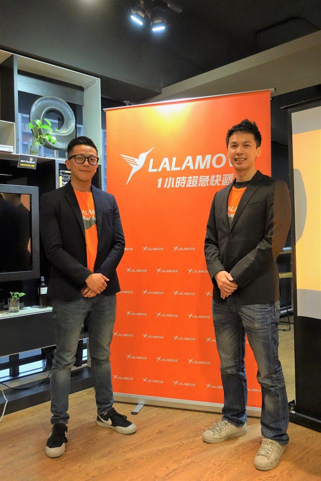左為Lalamove共同創辦人暨成長總監許家維,右為Lalamove共同創辦人暨...