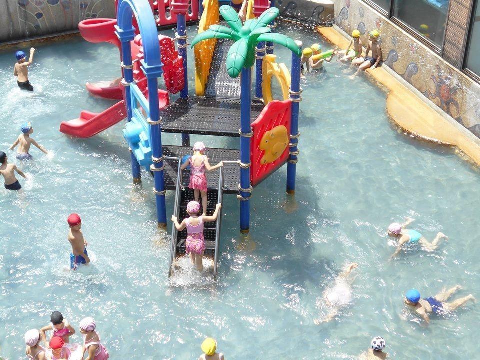 歡樂的兒童戲水池。(圖片提供/雄獅旅遊)