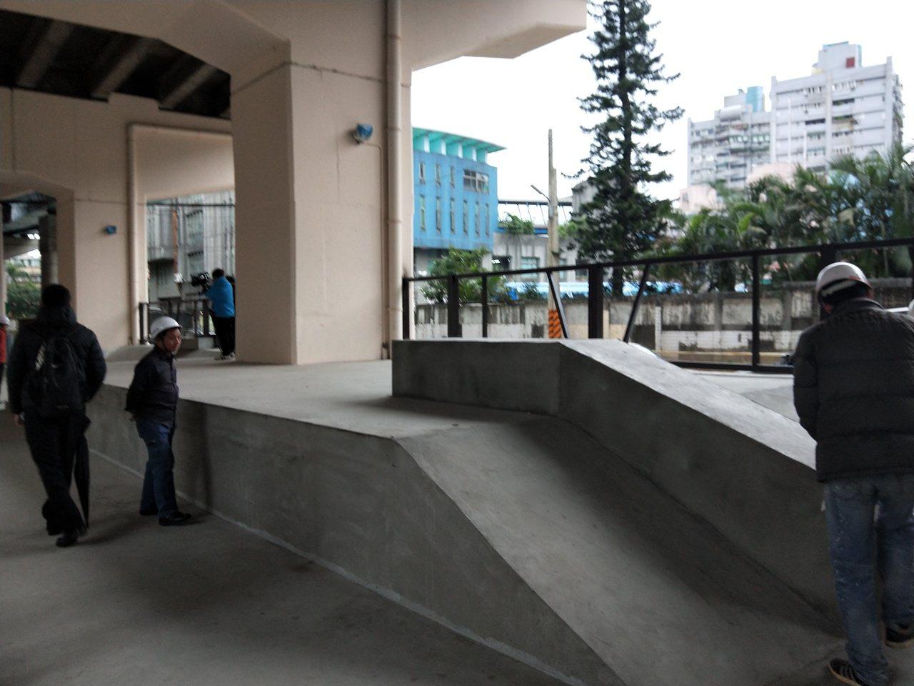 29號橋下設簡易極限運動場。記者游明煌/攝影