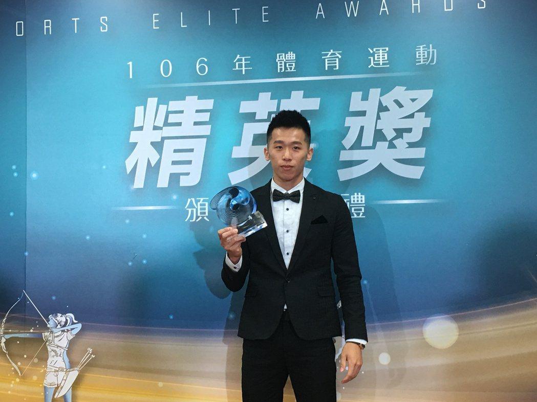李智凱獲得最佳運動精神獎。 記者曾思儒/攝影