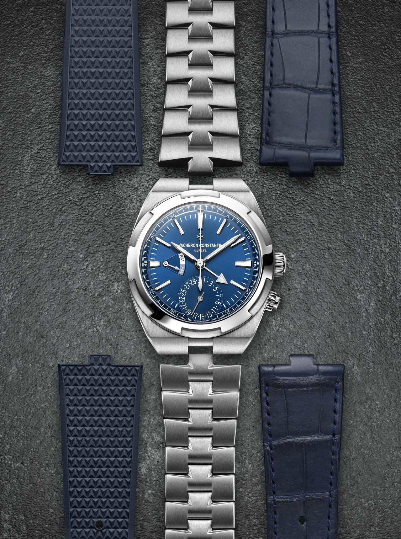 江詩丹頓Overseas兩地時間腕表,41毫米不鏽鋼表殼、5110 DT自動上鍊...