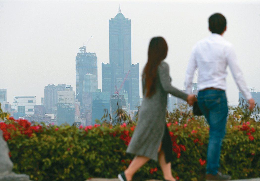 國衛院空汙報告,中南部是當前急需控制PM2.5的地區,尤以高市最嚴重。 記者劉學...