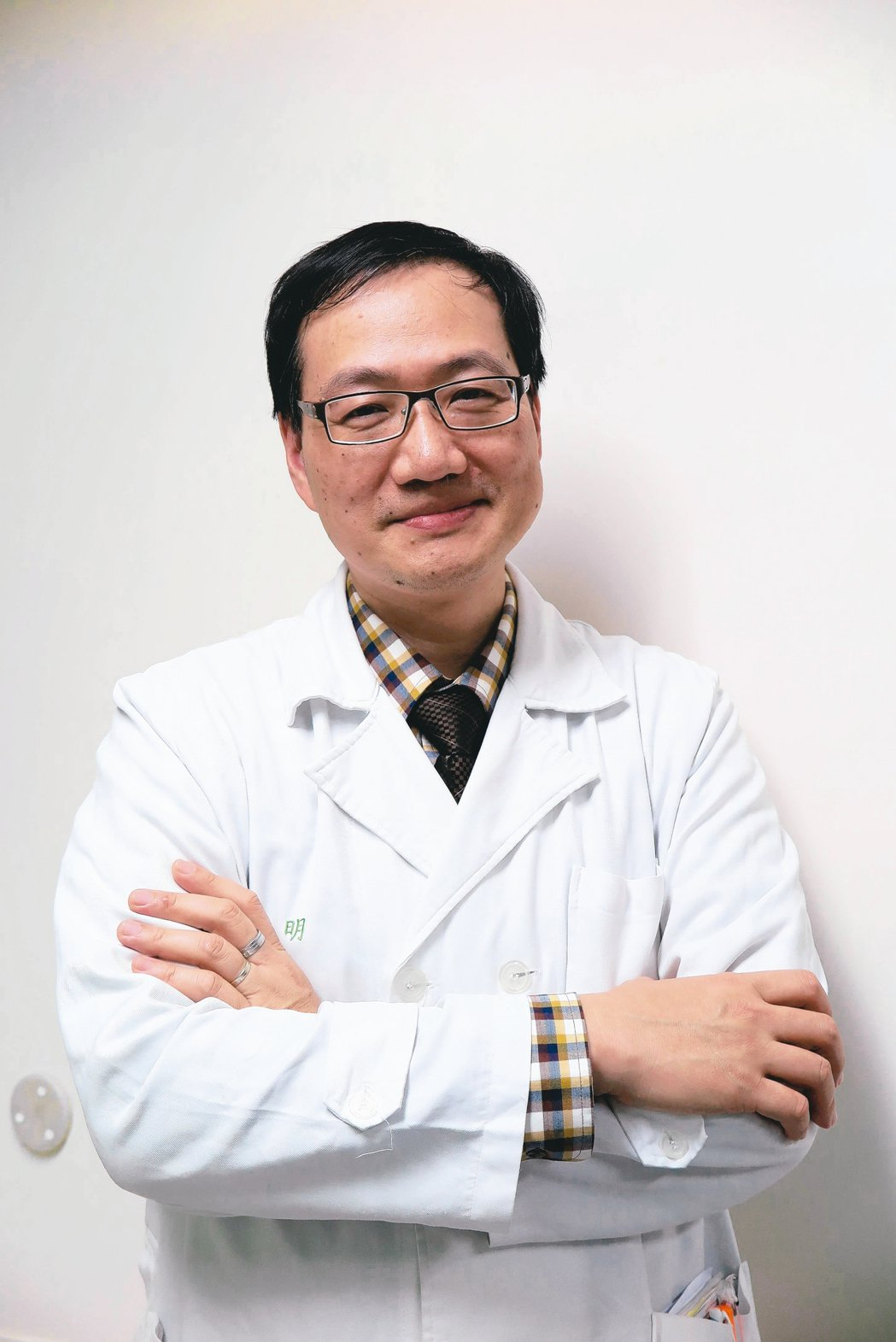 中華民國血液暨骨髓移植學會理事長姚明醫師。 劉靜君/攝影