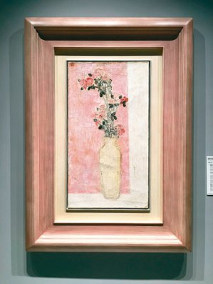 5702萬港幣 常玉「粉瓶野菊花」。 記者王惠琳/攝影