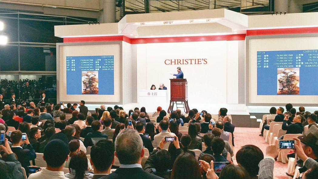 趙無極「29.01.64」在佳士得香港秋拍再度刷新個人紀錄。 圖/王惠琳