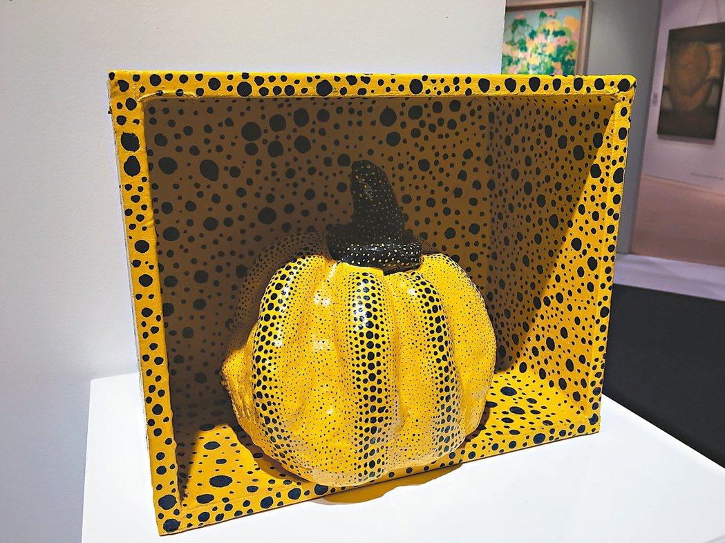 草間彌生1929年作品「Pumpkin(3)」。 圖/王惠琳