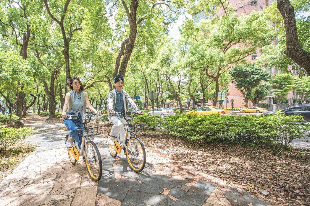 台北市與無樁共享單車oBike業者合作,未來使用者可查詢市區內自行車停車格地點。...