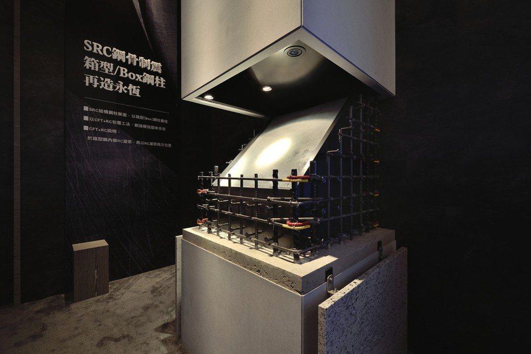吉美一品採用SRC鋼骨制震及最頂級箱型(BOX)鋼柱及CFT+RC包覆工法。