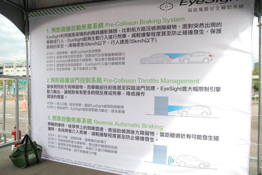 首先體驗的項目包括 PCB 預防碰撞自動煞車系統、PCTM 預防碰撞油門控制系統、RAB 倒車自動煞車系統等三項科技。 記者林鼎智/攝影