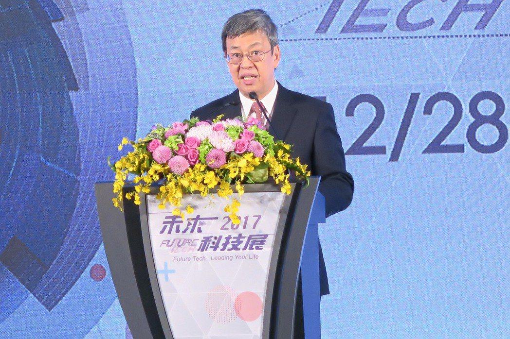 副總統陳建仁特為未來科技展致詞,明確指出當前政府對於產、學合作區塊的重視。 彭子...