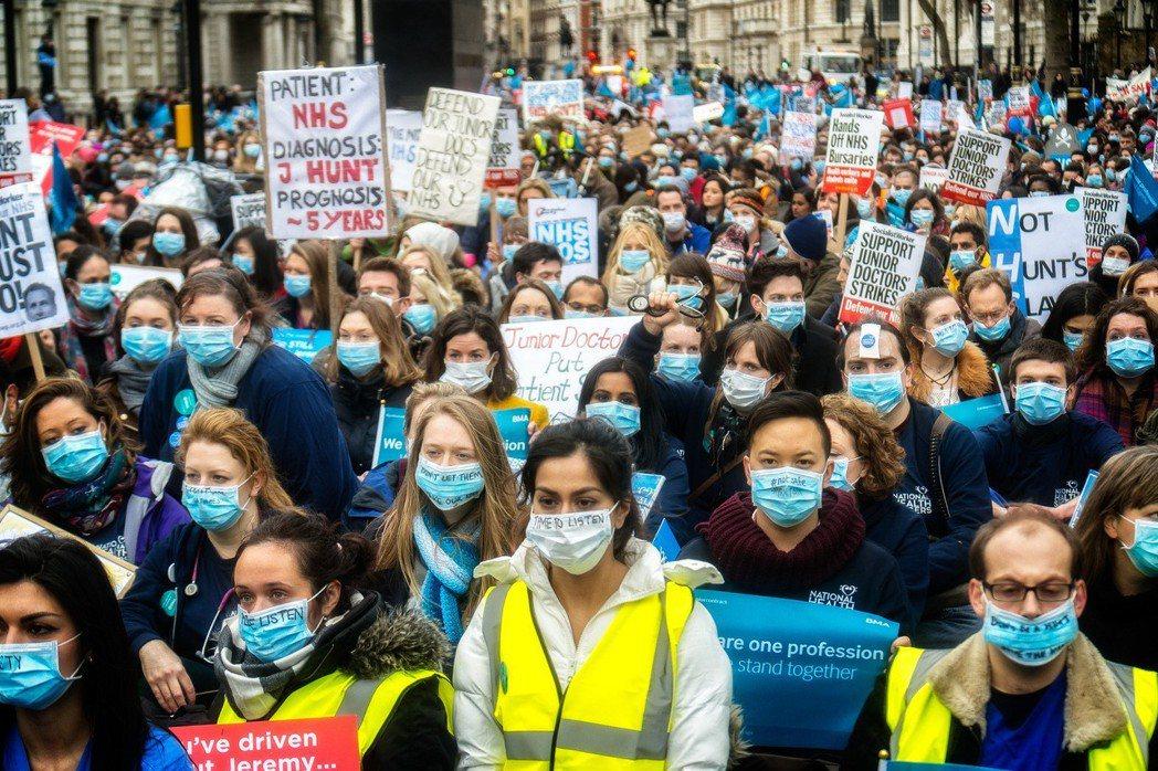 發生於去年的「5日大罷工」的計畫,被認為是英國有史以來最為嚴重的醫療罷工。  圖...