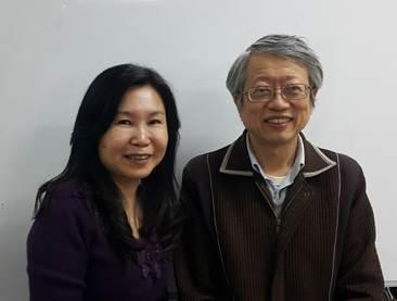 私校工會副理事長陳秋瑩(左)及秘書長諶其騮 (攝影:李淑蓮)