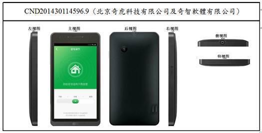 圖2:GUI與手機的整體產品外觀設計的視圖