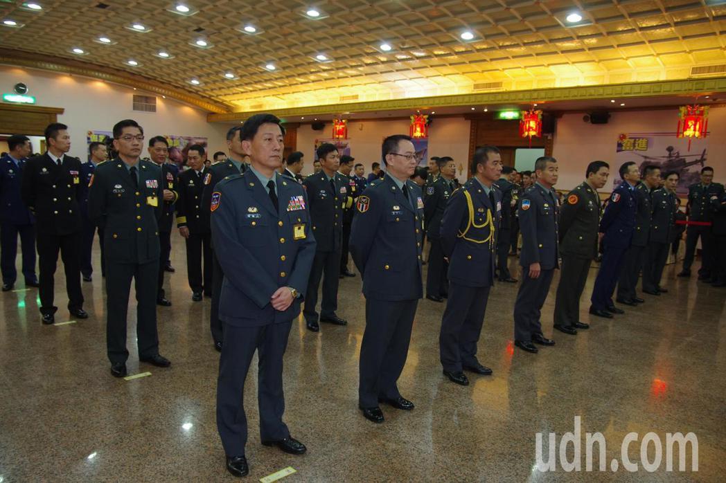 將領晉任典禮在三軍軍官俱樂部舉行。記者程嘉文/攝影
