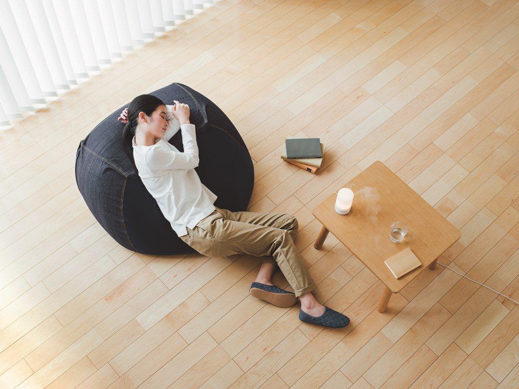 懶骨頭沙發(本體+椅套),5,100-5,800元。圖/無印良品提供