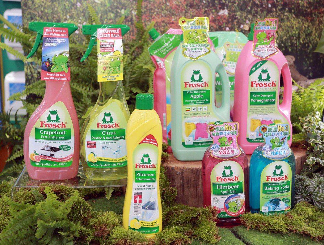 Frosch德國小綠蛙全系列商品。圖/永豐餘提供