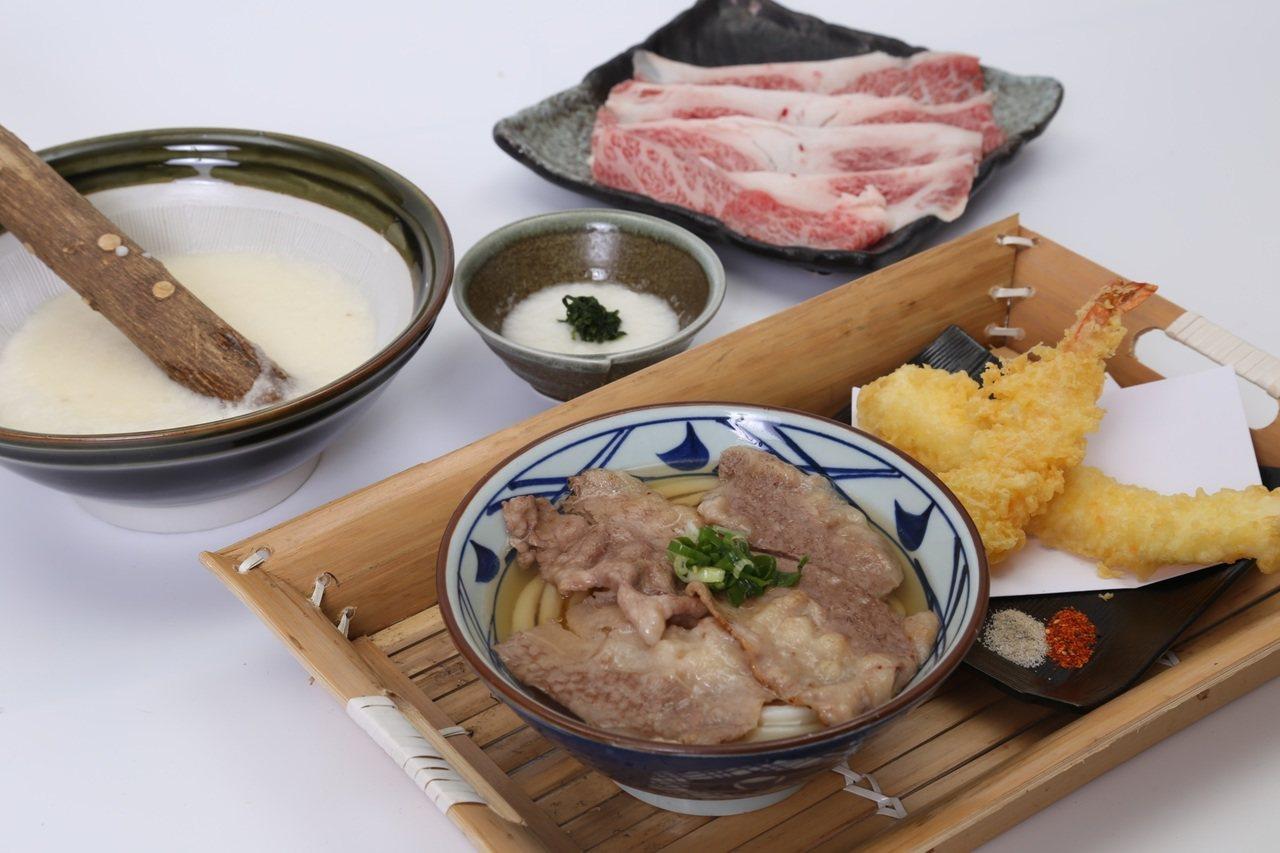 首碗和牛烏龍麵將限期開賣。圖/丸亀製麵提供