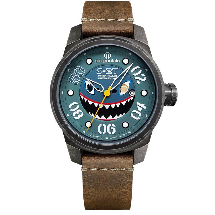 愛樂時JX48AS-S2T腕表,搭載Miyota 自動上鍊機芯,表徑48毫米,約...