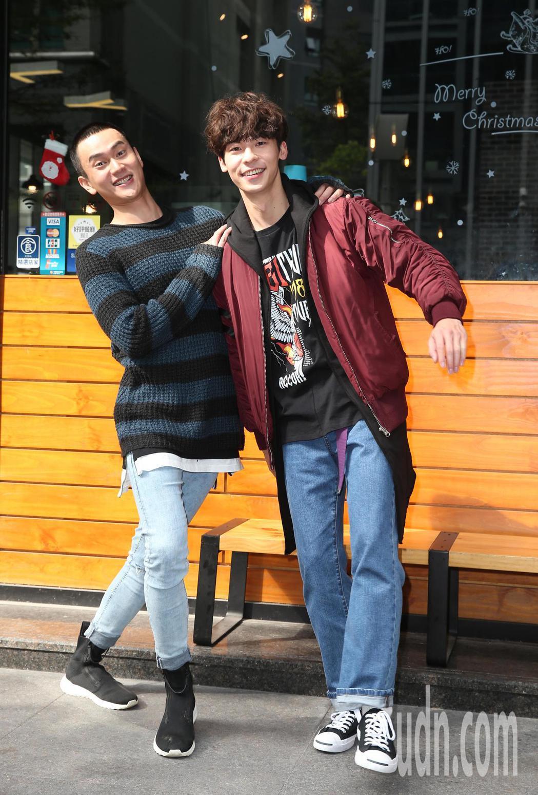 《1006的房客》記者會,演員許光漢(右)、劉冠廷(左)出席。記者曾吉松/攝影