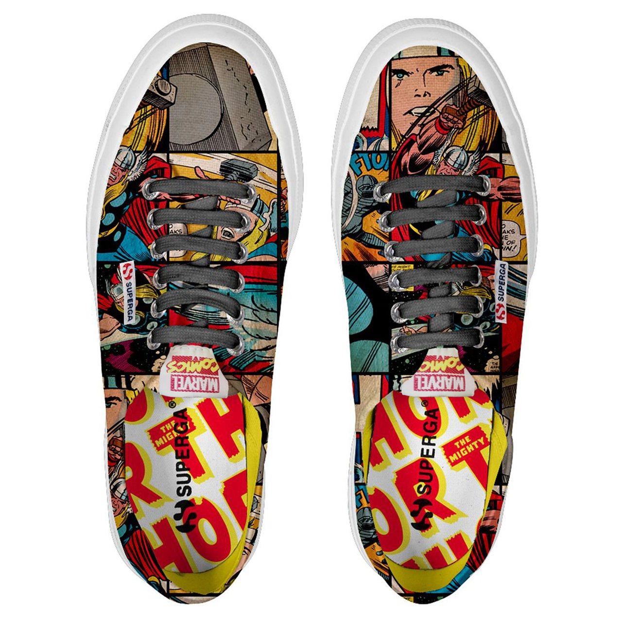 Superga 2750 Marvel限量聯名鞋,雷神索爾款約2,780元。圖/...