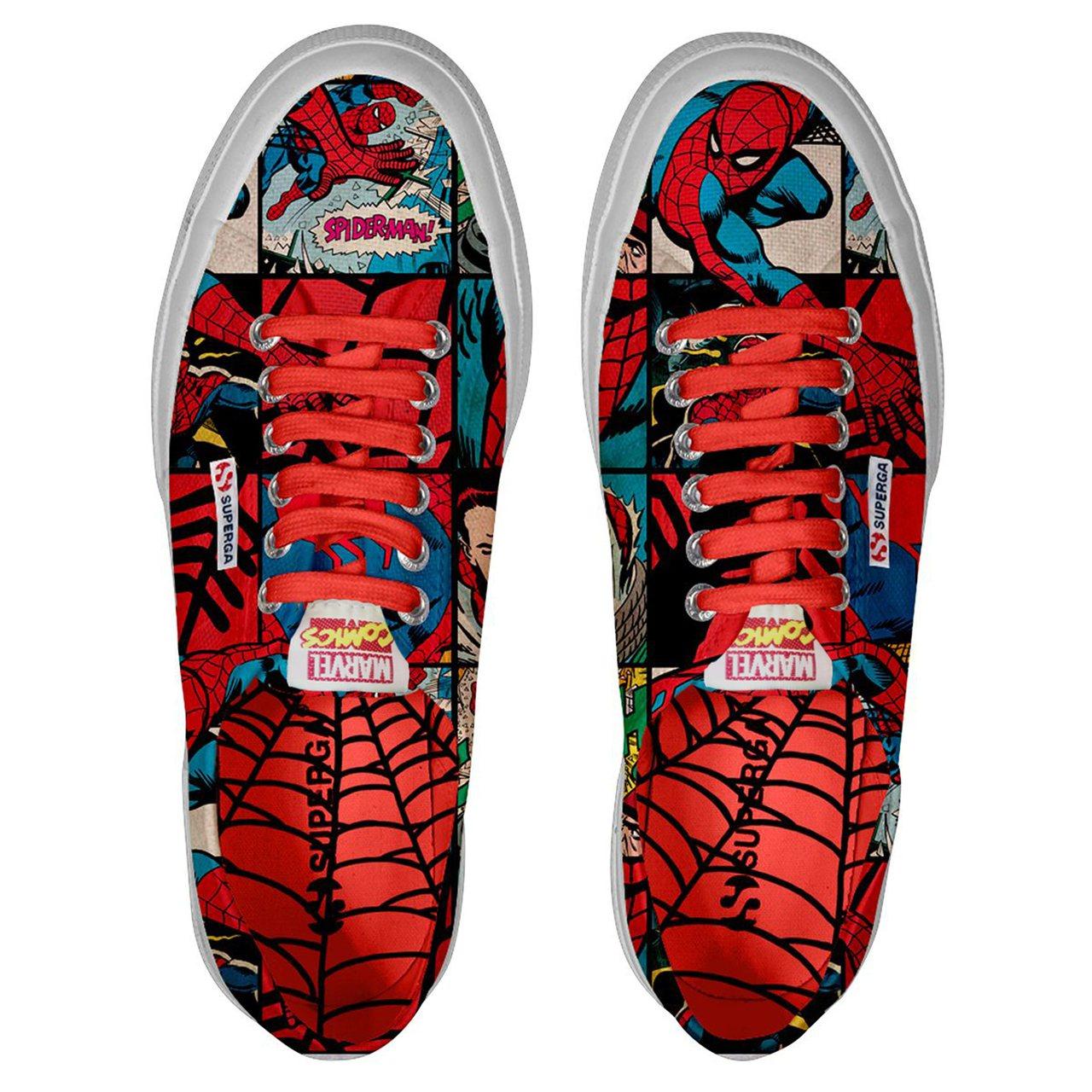 Superga 2750 Marvel限量聯名鞋,蜘蛛人款約2,780元。圖/嵥...