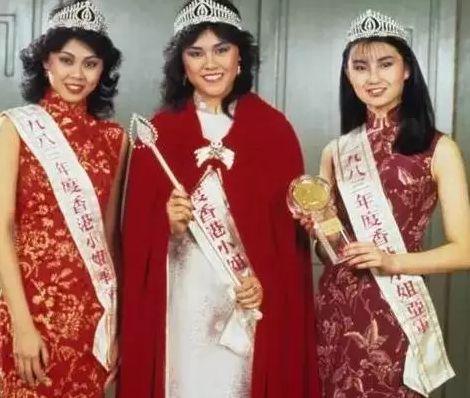 楊雪儀(中)曾是港姐冠軍,張曼玉(右)、李月芙是亞軍和季軍。圖/摘自微博