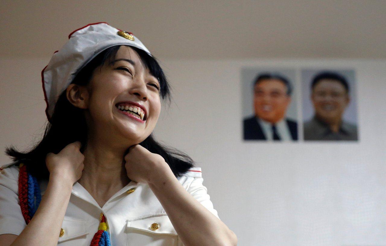 日本的哈北韓社團「先軍女孩(Sengun Joshi)」的團長 「Chunhun...