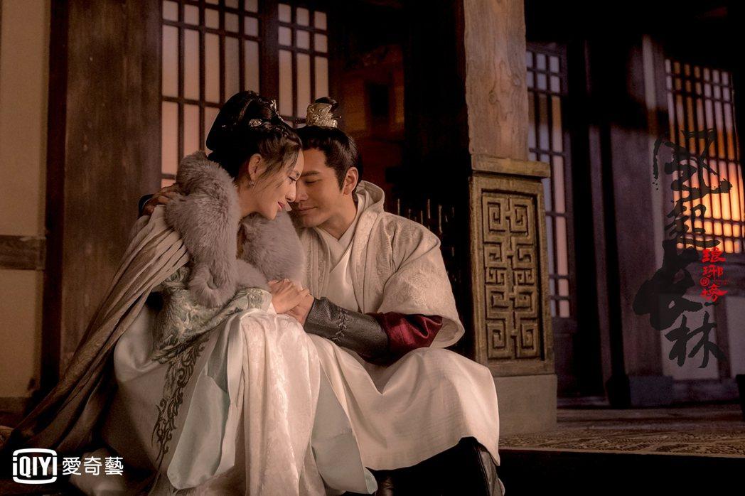 佟麗婭(左)和黃曉明在「琅琊榜之風起長林」中演夫妻。圖/愛奇藝台灣站提供
