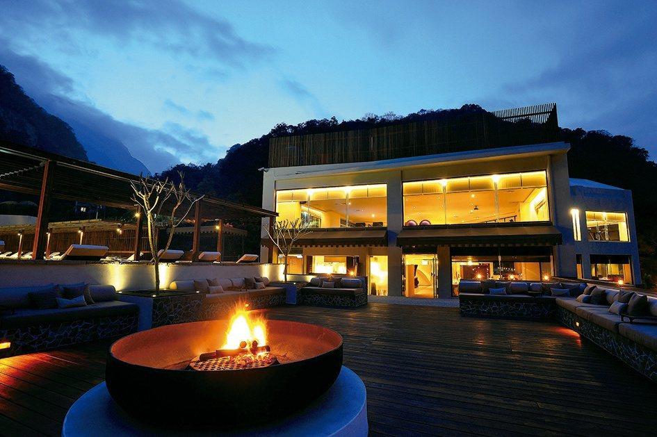 位在太魯閣國家公園內的晶英酒店,可以體驗最特別的峽谷跨年盛會。圖/晶英酒店提供