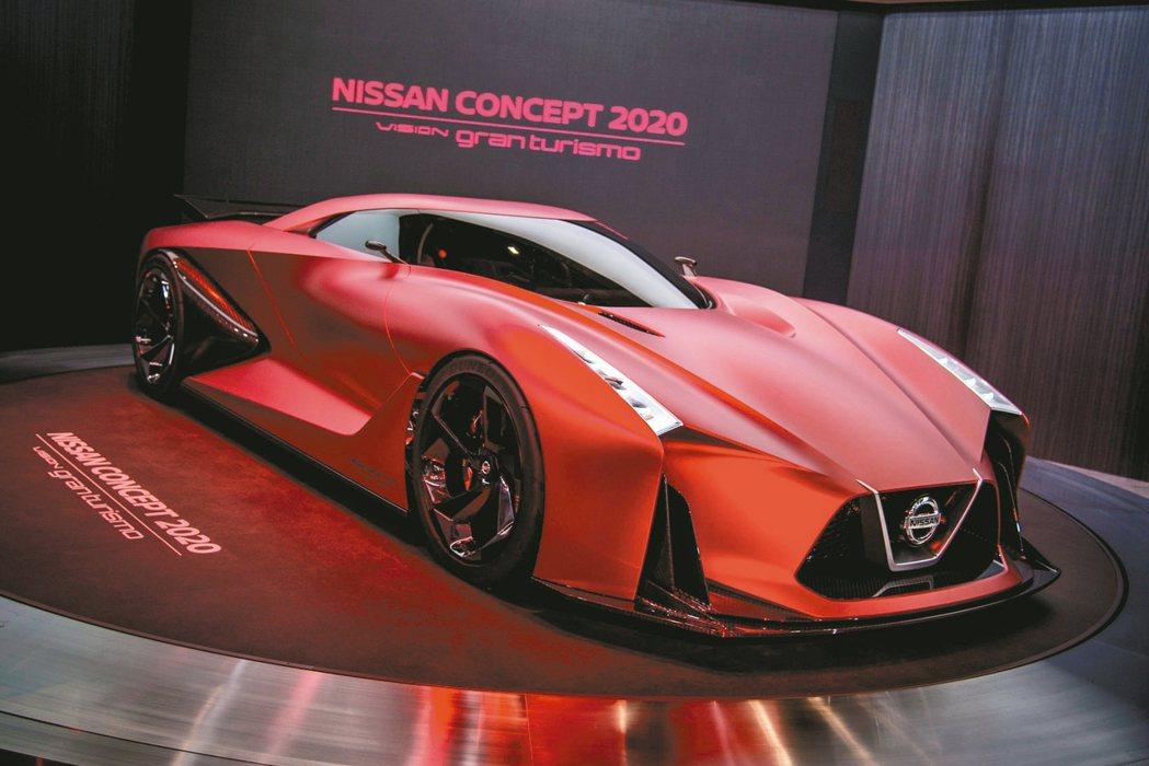 日產次世代概念跑車2020 Vision Gran Turismo。 圖/裕隆日...
