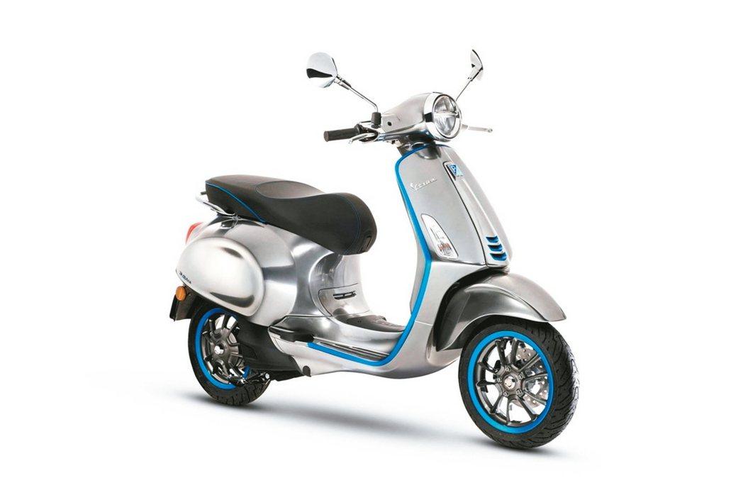 Vespa的第一款概念電動車款Vespa_Elettrica。 圖/太古運通提供