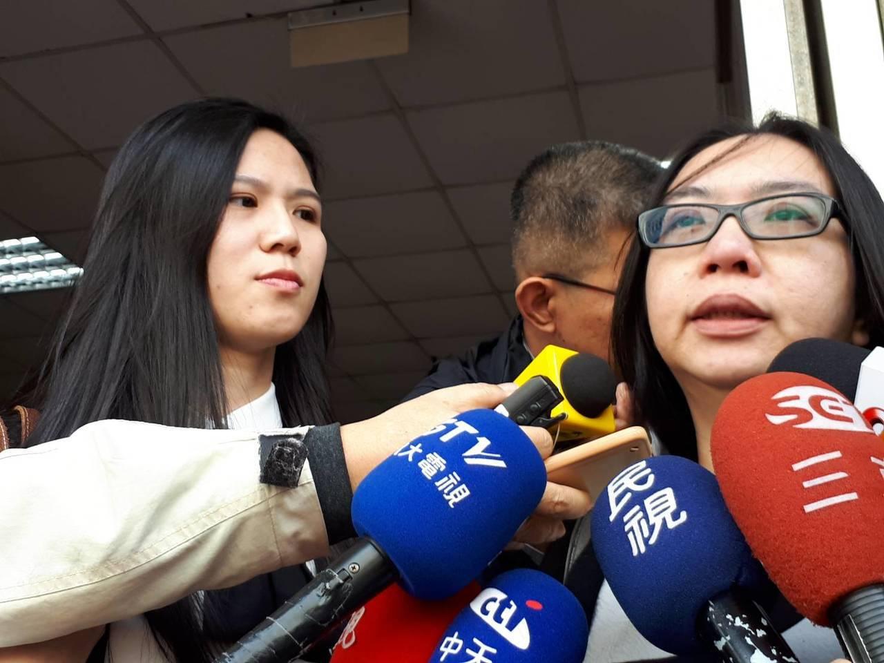 夜店殺警案曾威豪等六十八被告加重判刑,薛的遺孀到庭聆判。 記者蘇位榮/攝影