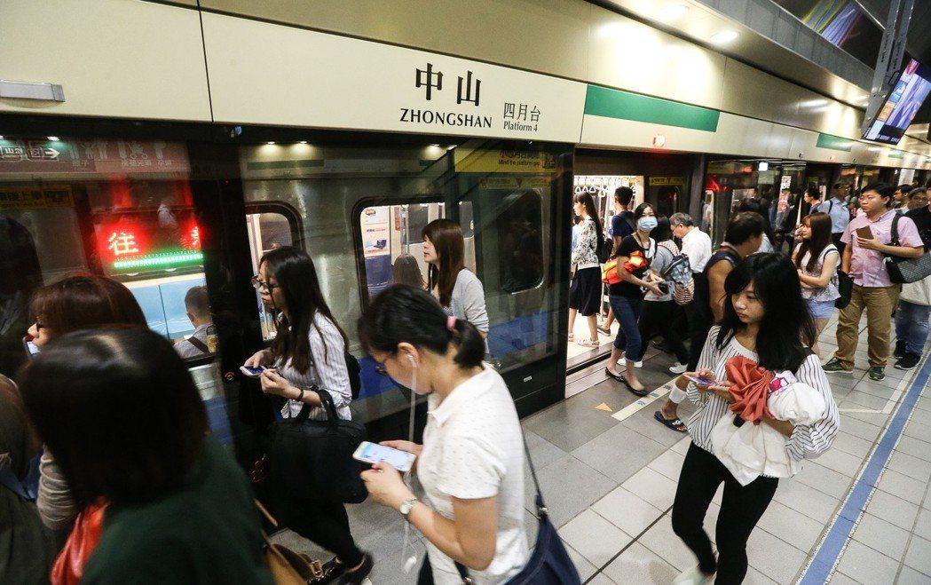 示意圖。圖為台北捷運。聯合報系資料照/記者黃威彬攝影