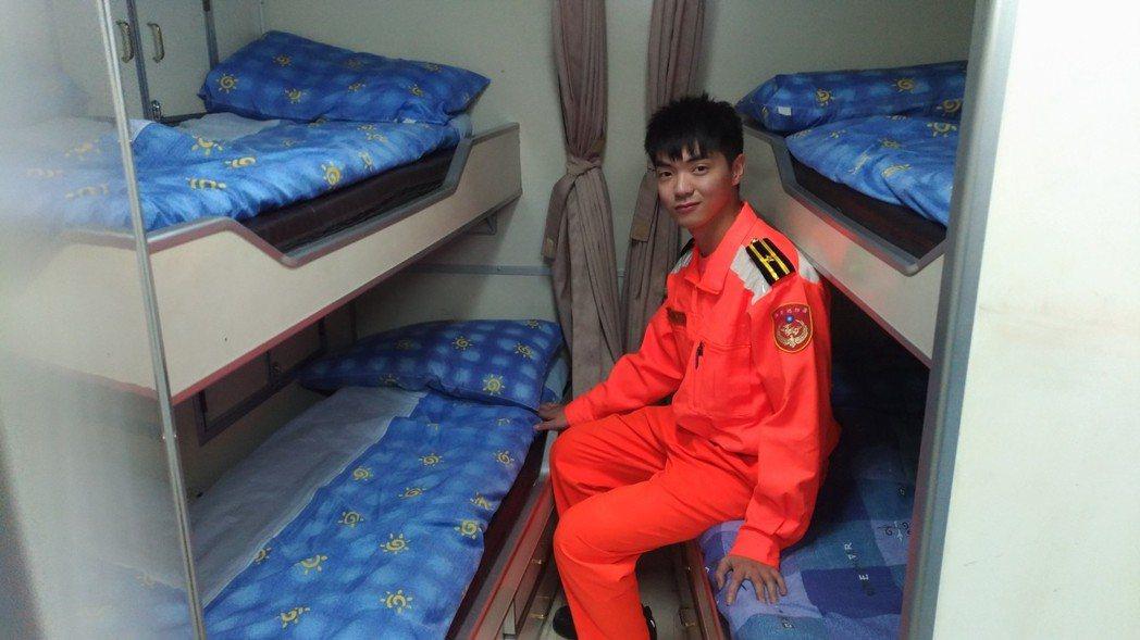 35噸級以上巡防艇內會有臥室,但空間狹小。 記者林昭彰/攝影
