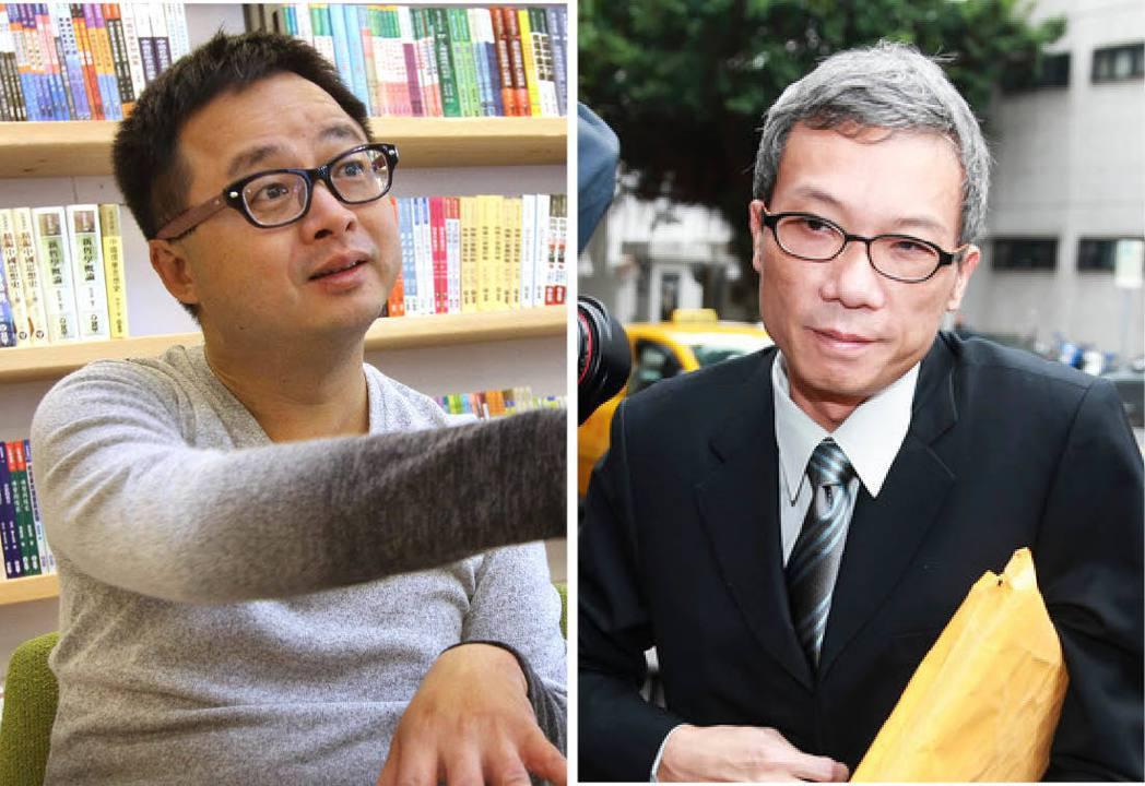 陳水扁從政時期,羅文嘉(左)、馬永成(右)都是幕僚核心。 圖/聯合報系資料照片