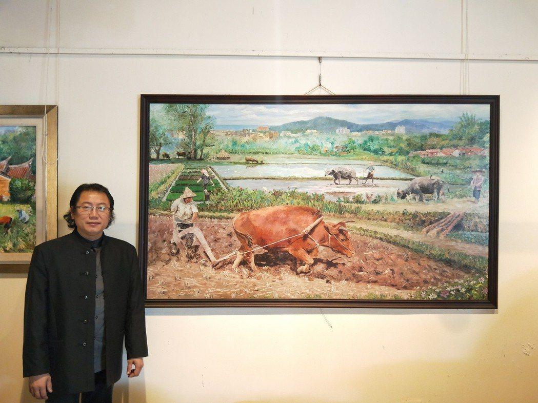 曾煥昇與富有靈性及生命力的作品-通霄家鄉農作勤耕。