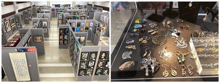 「吸引 Seeing」畢業展展示學生多元獨特的各項創意設計作品。 校方/提供