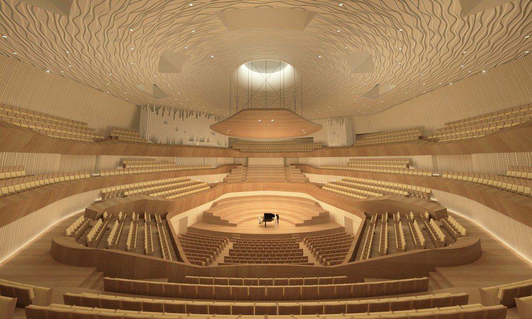 衛武營國家藝術文化中心葡萄園式音樂廳,可容納2000人。 衛武營國家藝術文化中心...