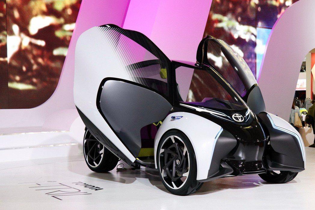 未來都會電動車-i-TRIL Concept。 記者陳威任/攝影