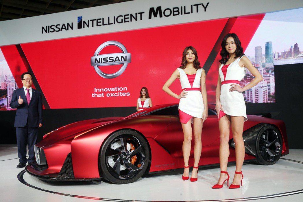 NISSAN(裕隆日產)展出概念跑車2020 Vision Gran Turismo。 記者徐兆玄/攝影