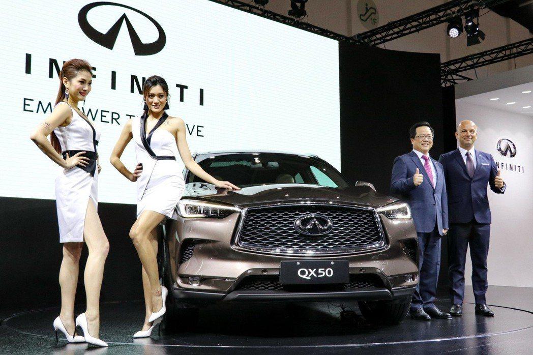 日前甫於洛杉磯車展全球首發的QX50,以亞洲首發之姿,在世界新車大展中亮相。 記...