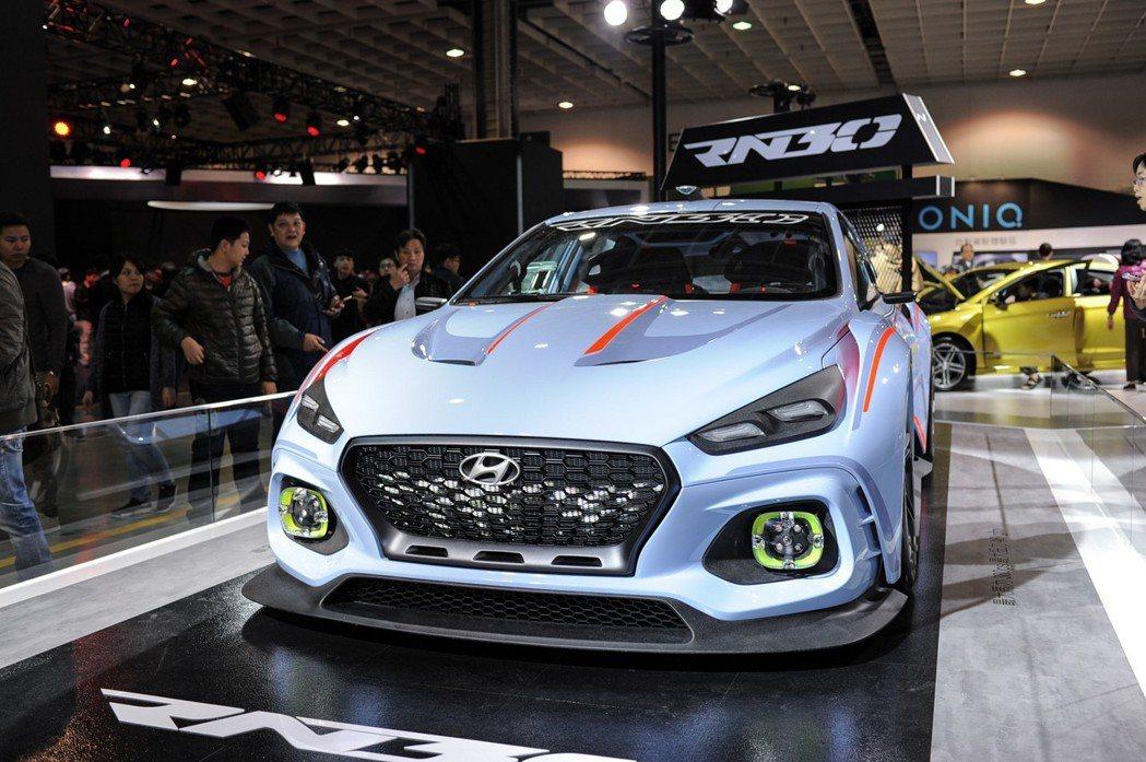 Hyundai RN30 賽道概念車極富戰鬥氣息。 記者林鼎智/攝影
